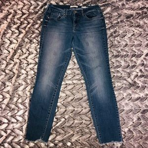 Jessica Simpson high rise skinny cut off jeans